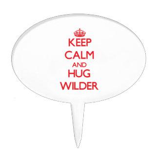 Keep calm and Hug Wilder Cake Picks