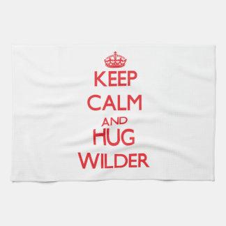 Keep calm and Hug Wilder Kitchen Towel