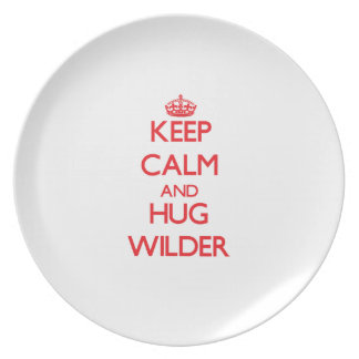Keep calm and Hug Wilder Party Plate