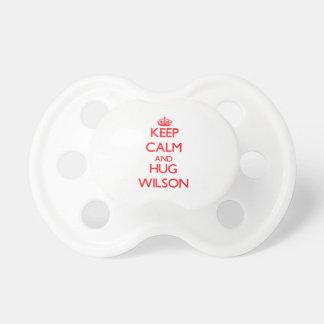 Keep calm and Hug Wilson Baby Pacifier