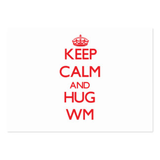 Keep Calm and HUG Wm Large Business Cards (Pack Of 100)