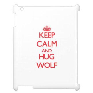 Keep calm and Hug Wolf iPad Cases