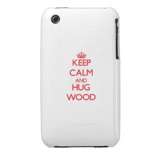 Keep calm and Hug Wood Case-Mate iPhone 3 Case