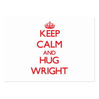 Keep calm and Hug Wright Large Business Cards (Pack Of 100)
