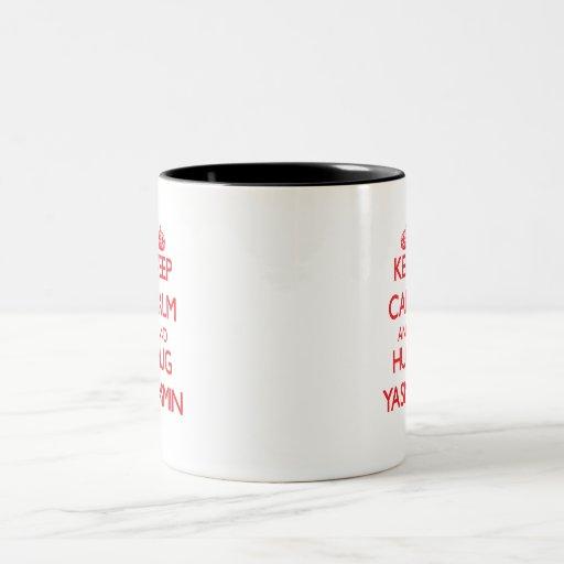 Keep Calm and Hug Yasmin Two-Tone Coffee Mug