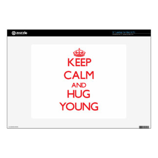 Keep calm and Hug Young Decal For Laptop