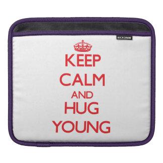 Keep calm and Hug Young Sleeves For iPads