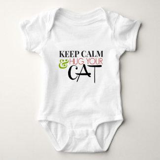Keep Calm And Hug Your Cat Baby Bodysuit