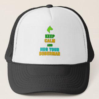 Keep Calm And Hug Your Doberman Dog Fan Gift Trucker Hat