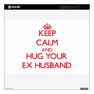 """Keep Calm and HUG your Ex-Husband Skins For 11"""" MacBook Air"""
