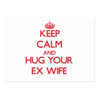 Keep Calm and HUG  your Ex-Wife Business Card