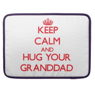 Keep Calm and HUG  your Granddad MacBook Pro Sleeves