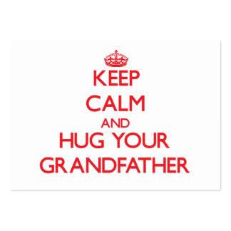 Keep Calm and HUG  your Grandfather Business Card Template