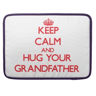 Keep Calm and HUG  your Grandfather MacBook Pro Sleeve