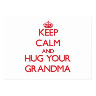 Keep Calm and HUG your Grandma Business Card Template
