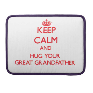 Keep Calm and HUG  your Great Grandfather MacBook Pro Sleeve