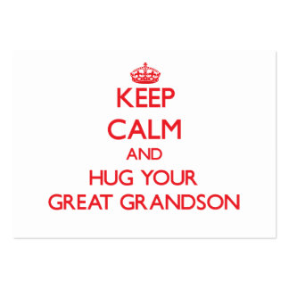 Keep Calm and HUG your Great Grandson Business Card Template
