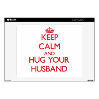 """Keep Calm and HUG your Husband 14"""" Laptop Skins"""