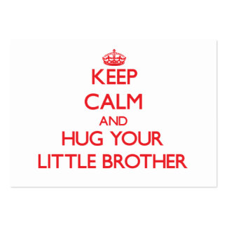 Keep Calm and HUG  your little Brother Large Business Cards (Pack Of 100)