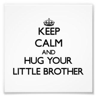 Keep Calm and Hug your little Brother Photo Print
