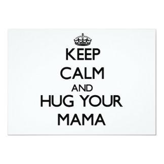 "Keep Calm and Hug your Mama 5"" X 7"" Invitation Card"