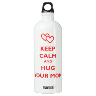 Keep Calm And Hug Your Mom Aluminum Water Bottle