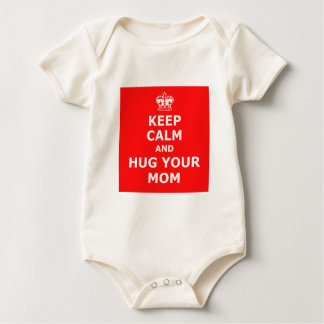 Keep calm and hug your mom baby bodysuit