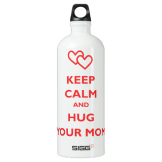 Keep Calm And Hug Your Mom Water Bottle