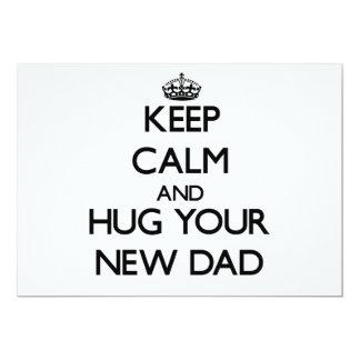 Keep Calm and Hug your New Dad Custom Invite