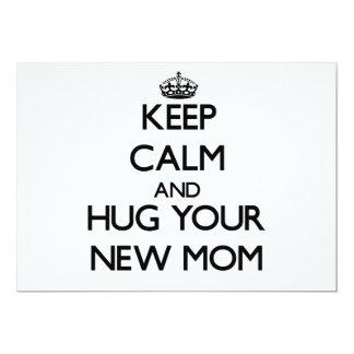 "Keep Calm and Hug your New Mom 5"" X 7"" Invitation Card"