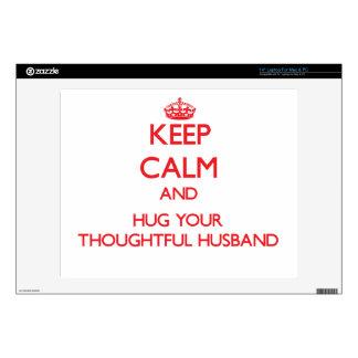 Keep Calm and HUG your Thoughtful Husband Laptop Decal