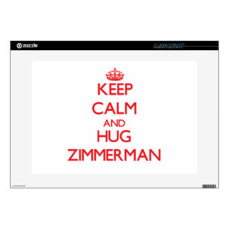 Keep calm and Hug Zimmerman Decals For Laptops