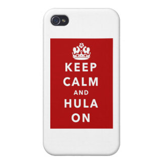 Keep Calm and Hula On Covers For iPhone 4