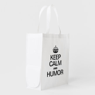 KEEP CALM AND HUMOR MARKET TOTE
