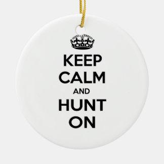 Keep Calm and Hunt On Christmas Tree Ornament