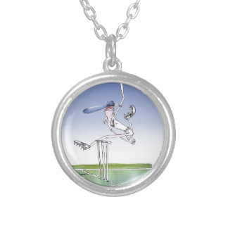 keep calm and hurl that ball, tony fernandes silver plated necklace
