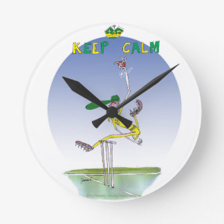 keep calm and hurl the ball, tony fernandes round clock