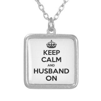 Keep Calm and Husband On Custom Jewelry