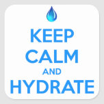 Keep Calm And Hydrate Sticker