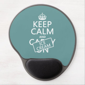 Keep Calm and Ice Cream (icecream) (any color) Gel Mouse Pad