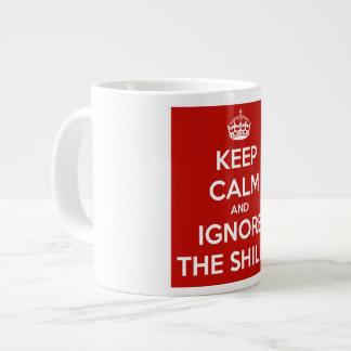 Keep Calm and Ignore the Shills Large Coffee Mug