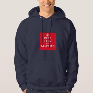Keep Calm and Illuminati Blue Hoodie Sweatshirt