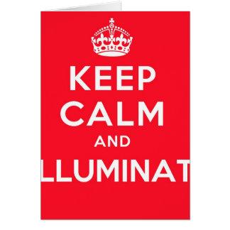 Keep Calm and Illuminati Card