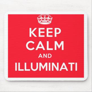 Keep Calm and Illuminati Mouse Pad