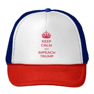 Keep Calm and Impeach Trump Trucker Hat