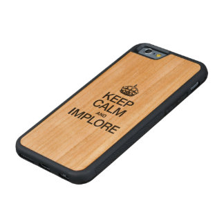 KEEP CALM AND IMPLORE CARVED® CHERRY iPhone 6 BUMPER CASE