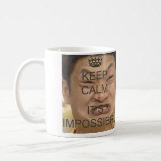 Keep calm and impossibru on mug