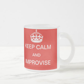Keep calm and improvise mug