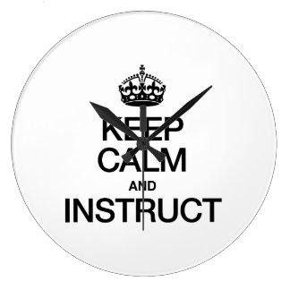 KEEP CALM AND INSTRUCT WALLCLOCK
