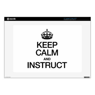 KEEP CALM AND INSTRUCT LAPTOP SKINS